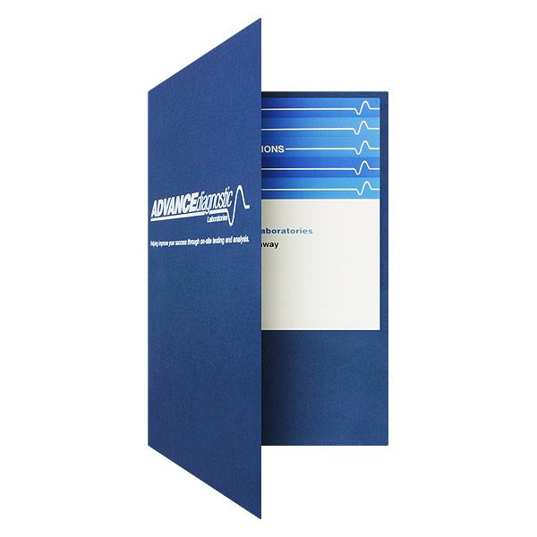 ADL Presentation Folder with Stepped Insterts (Front Open View)