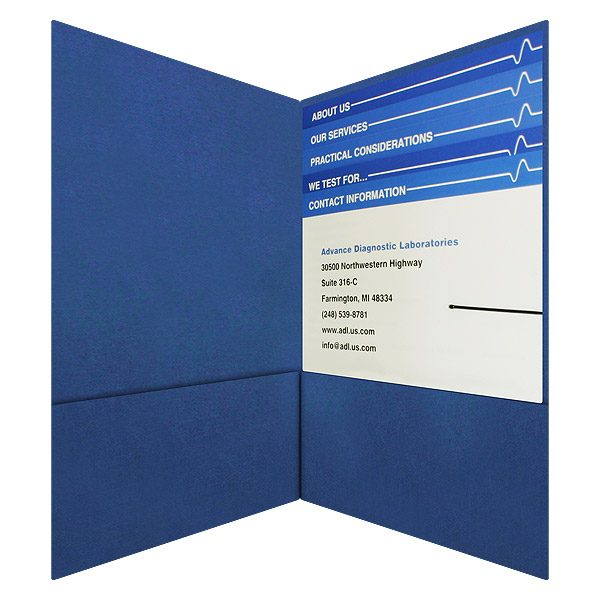 ADL Business Folder with Inserts (Inside View)