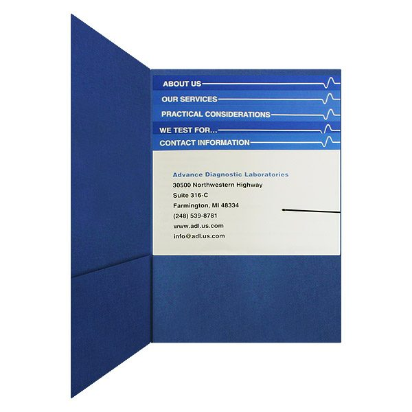 ADL Presentation Folder with Stepped Inserts