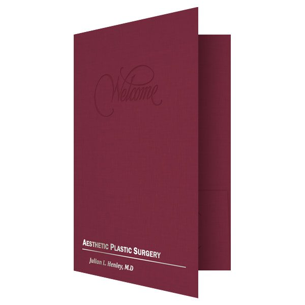 Aesthetic Plastic Surgery Marketing Folder (Front Open View)