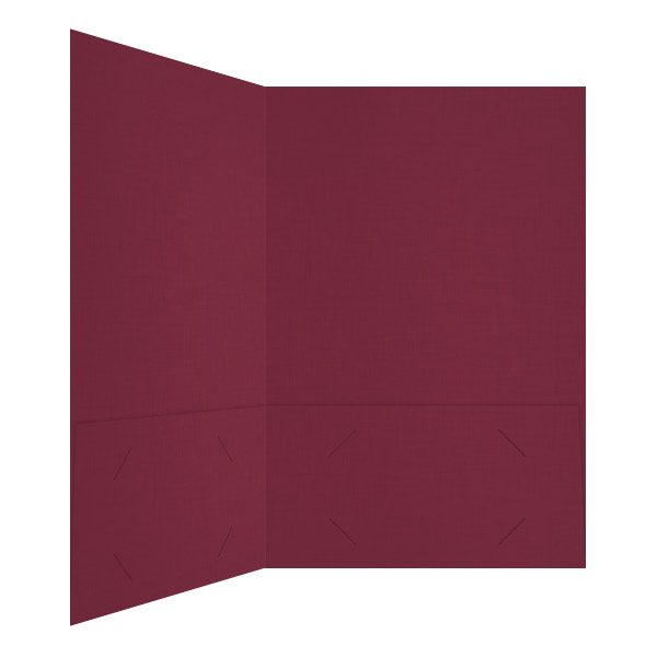 Aesthetic Dark Red 2-Pocket Folder (Inside Right View)