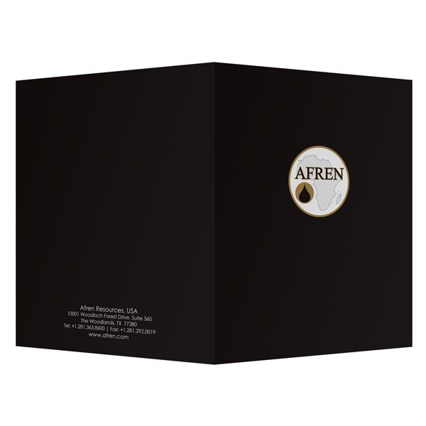 Afren Energy Company Folder (Front and Back View)