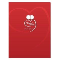 Allison's Heart Foundation Presentation Folder (Front View)