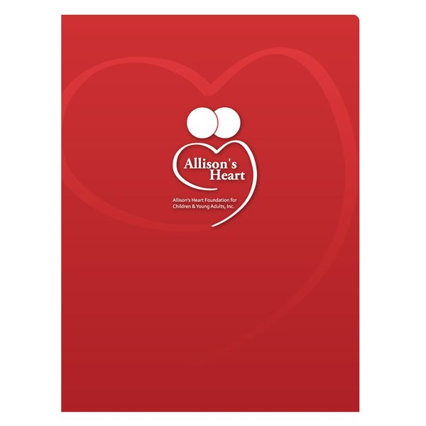 Allison's Heart Foundation Presentation Folder (Front View)