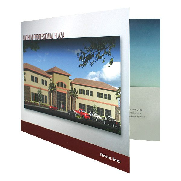 Professional Pocket Folders for Anthem Plaza (Front Open View)