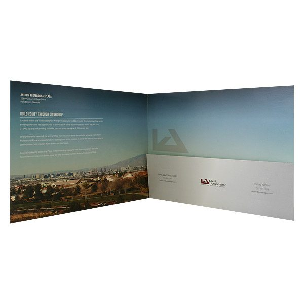 Anthem Professional Pocket Folder Design (Inside View)