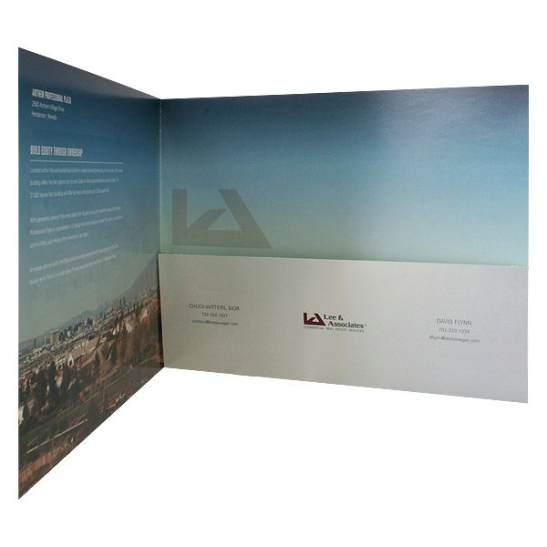 Anthem Professional Single Pocket Folder (Inside Right View)