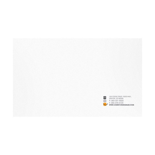 AOC Contact Information Presentation Folder (Back View)