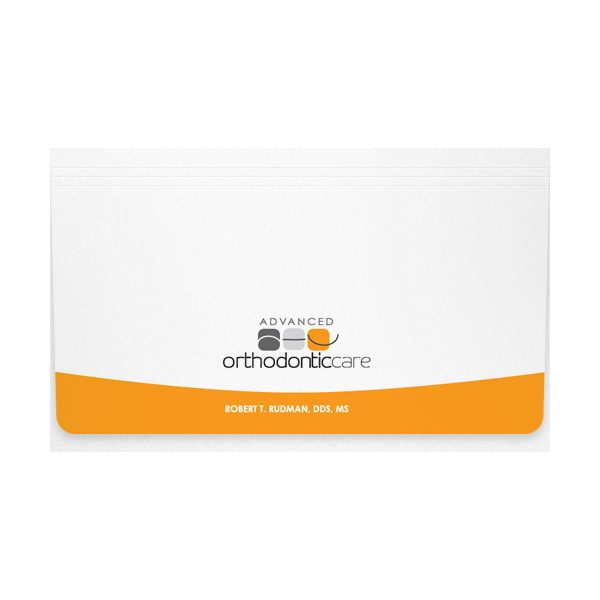 Advanced Orthodontic Care Dentistry Document Folder (Front View)