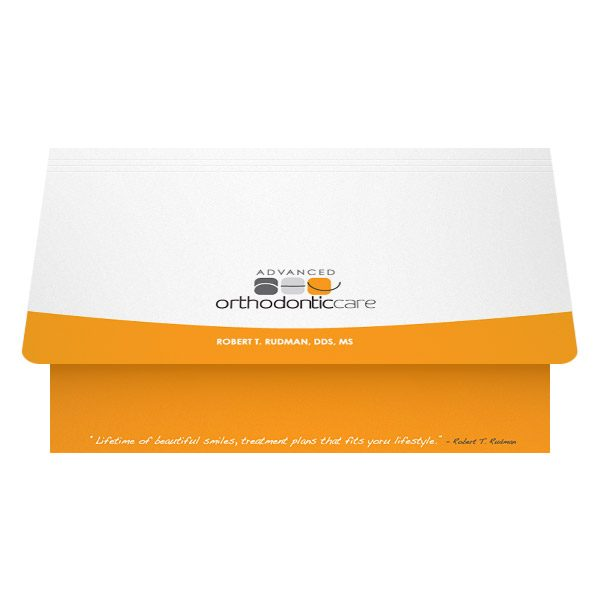 Advanced Orthodontic Care Health Business Folder (Front Open View)