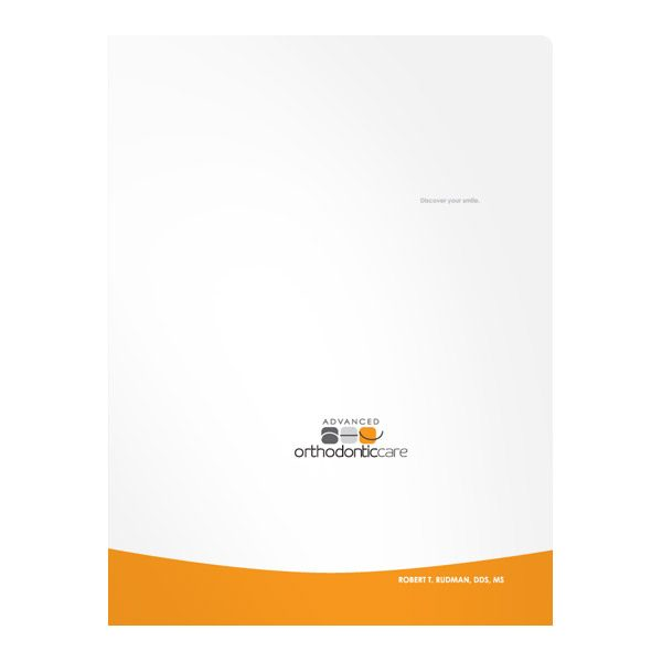 Advanced Orthodontic Care Presentation Folder (Front View)