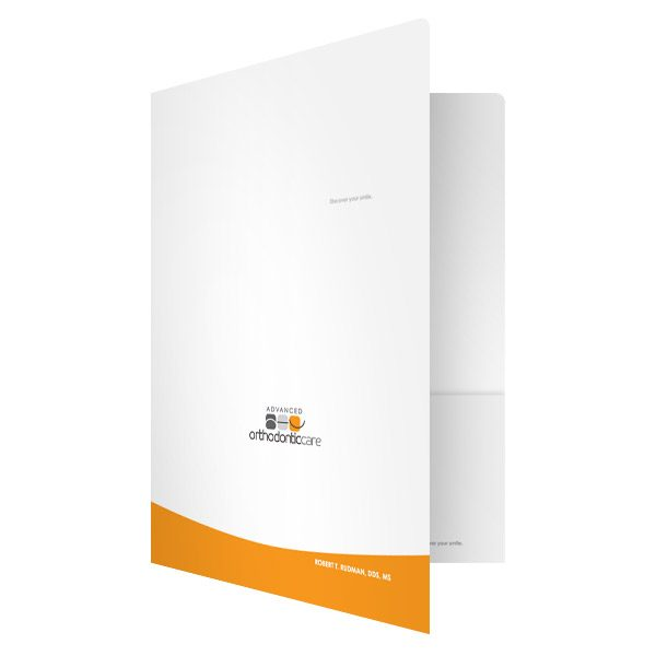 AOC Orthodontist Presentation Folder (Front Open View)