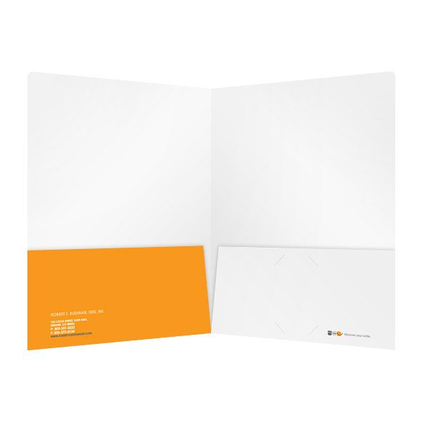 AOC 2-Pocket Dentist Folder (Inside View)