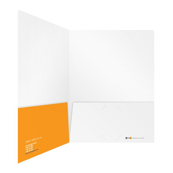 Advanced Orthodontic Care Orange Pocket Folder (Inside Right View)