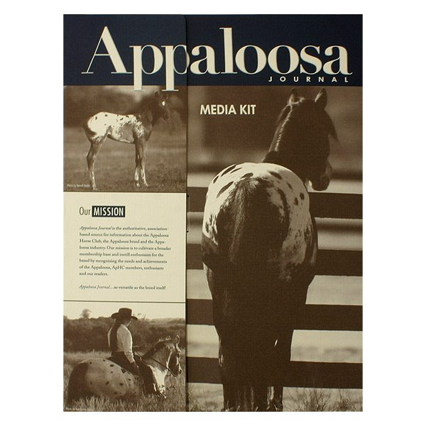 Appaloosa Journal Press Kit Folder (Front View)