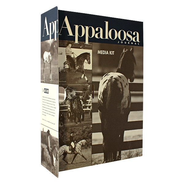 Press Kit Folders for Appaloosa Journal (Front Open View)