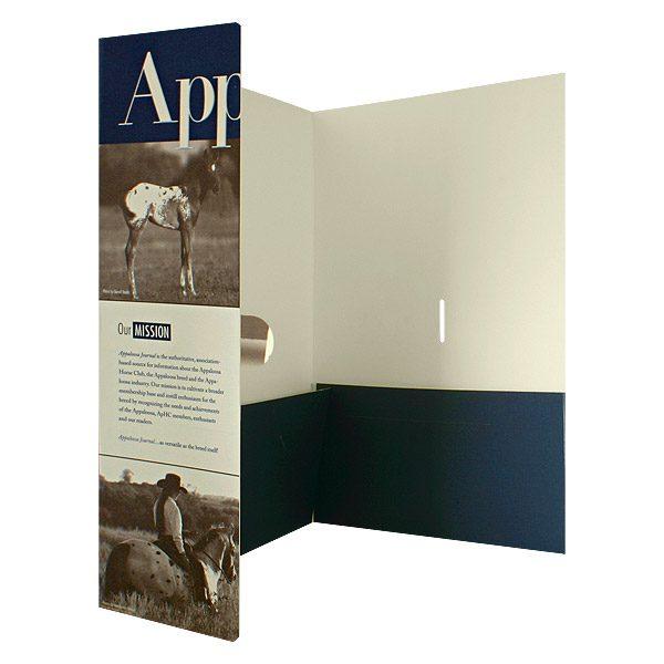 Apaloosa Journal Media Kit Presentation Folder (Inside Right View)