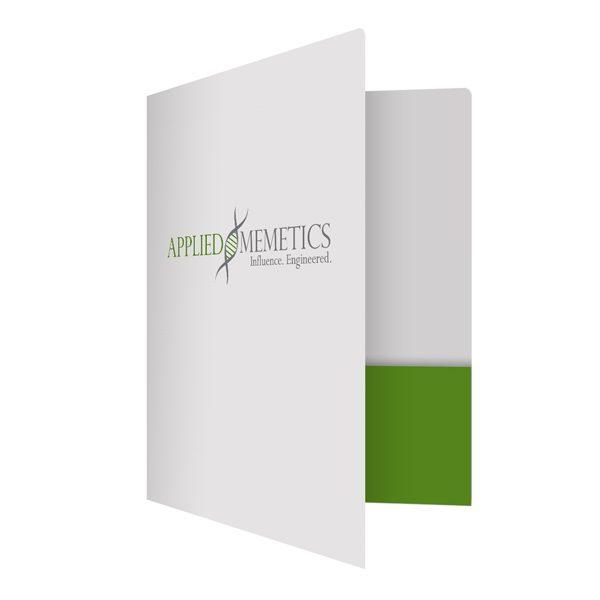 Applied Memetics DNA Logo Folder (Front Open View)