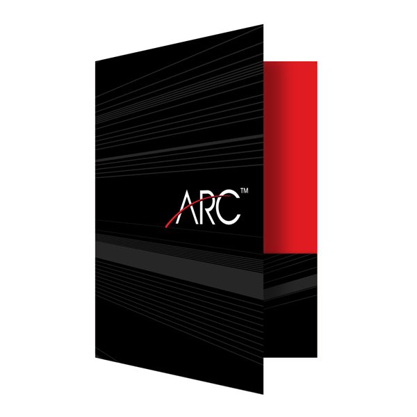 Professional Presentation Folders for ARC (Front Open View)