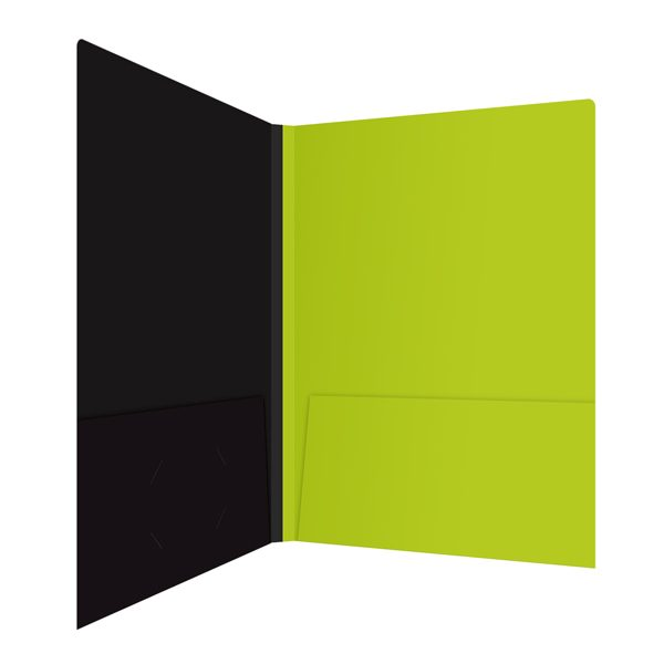 Associated Press Lime Green Pocket Folder (Inside Right View)