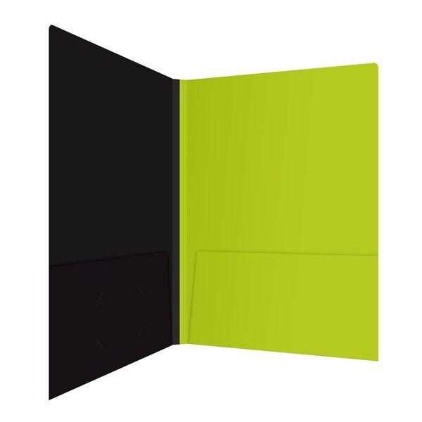 Associated Press Lime Green Pocket Folder (Inside Right View)