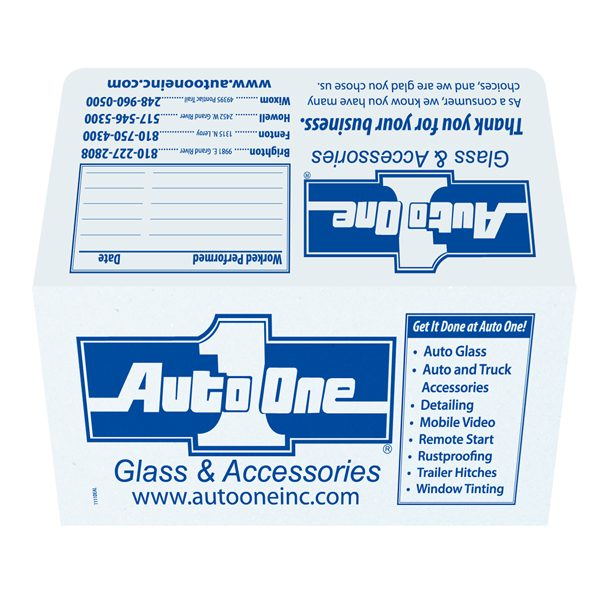 Auto One Glass Repair Presentation Folder (Front and Back View)