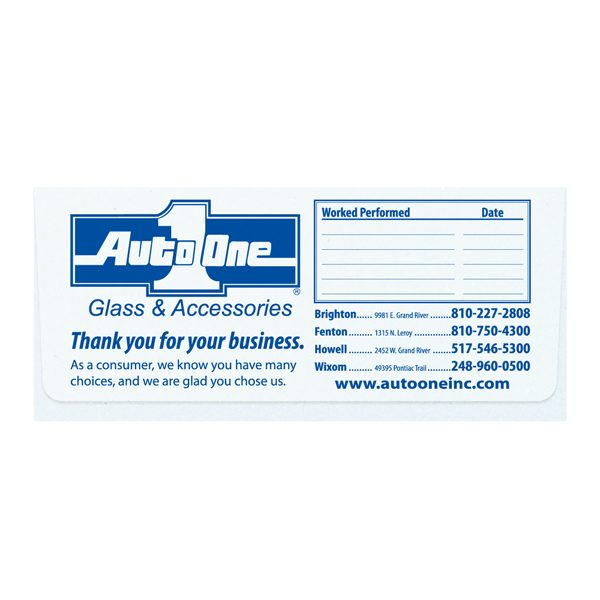Auto One Glass Repair Document Folder (Front View)