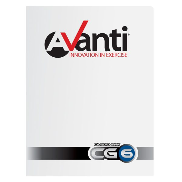 Avanti Fitness White Gloss Presentation Folder (Front View)