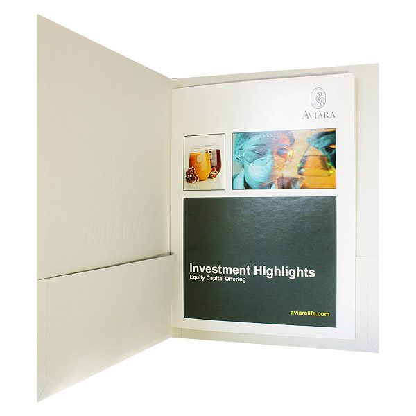 Aviara Full Color Brochure Presentation Folder (Inside Right View)