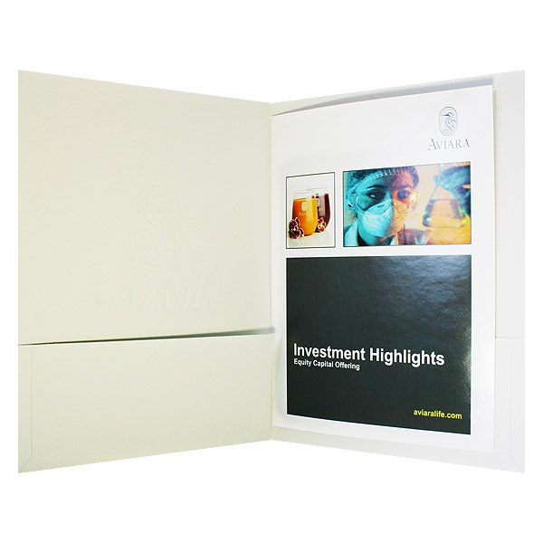 Aviara Stitched Brochure Pocket Folder (Inside View)