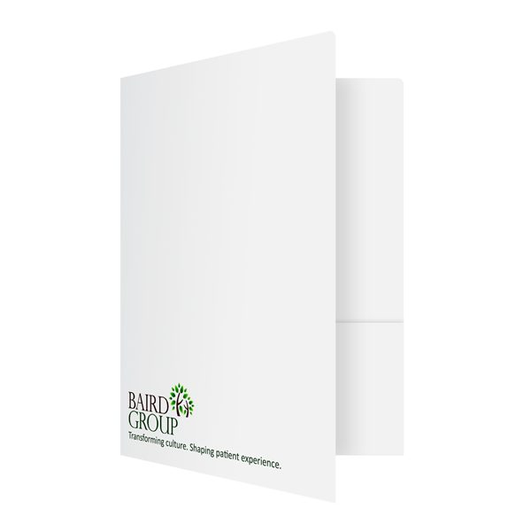 Health Care Presentation Folders for Baird Group (Front Open View)