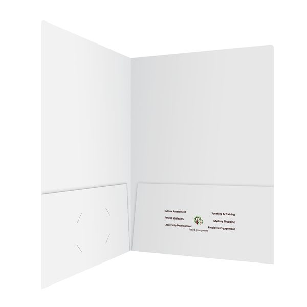 Baird White 2-Pocket Folder (Inside Right View)