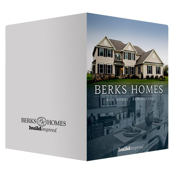 Berks Home Builders Marketing Folder (Front and Back View)