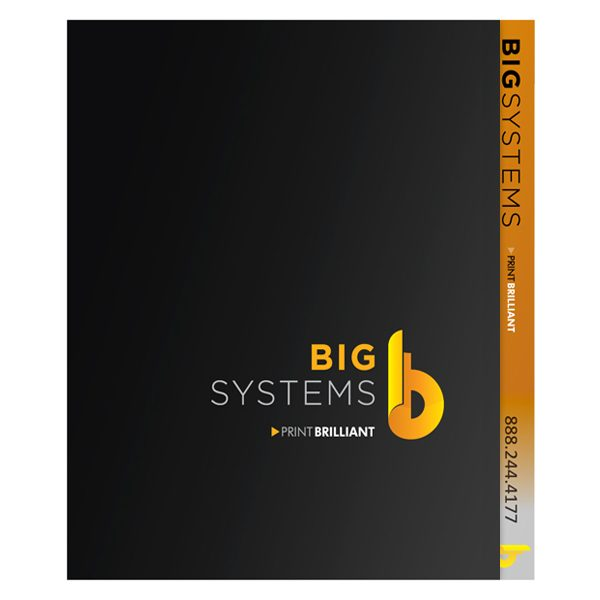 Big Systems Presentation Folder (Front View)