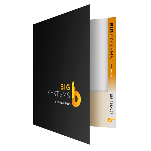 Presentation Folder Printing for Big Systems (Front Open View)
