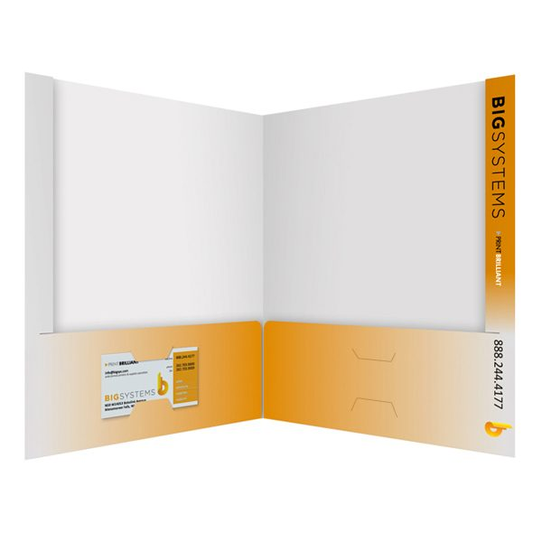 Big Systems Business Card Pocket Folder (Inside View)