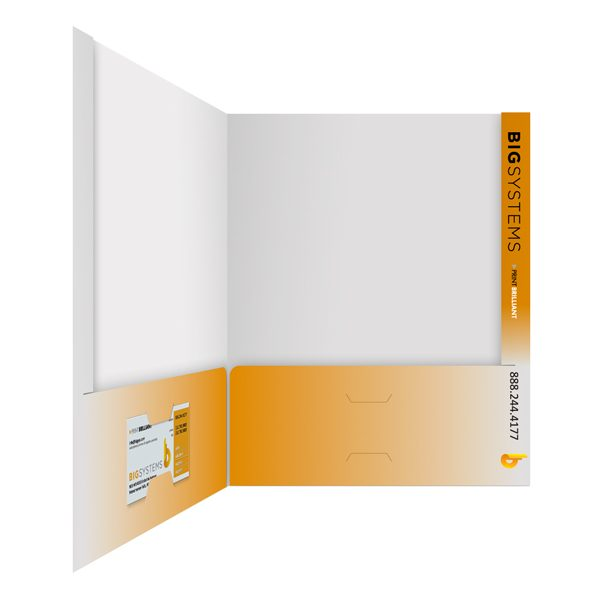 Big Systems Orange & White Presentation Folder (Inside Right View)