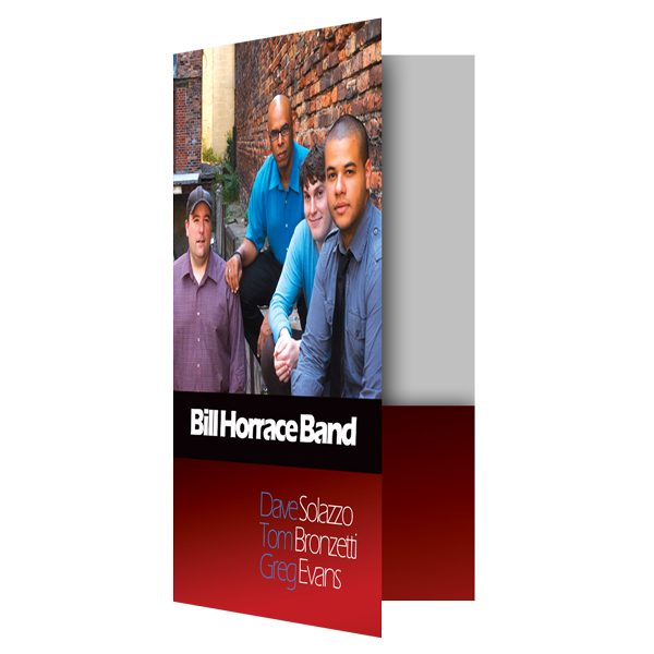 Bill Horrace Band Pocket Folder (Front Open View)