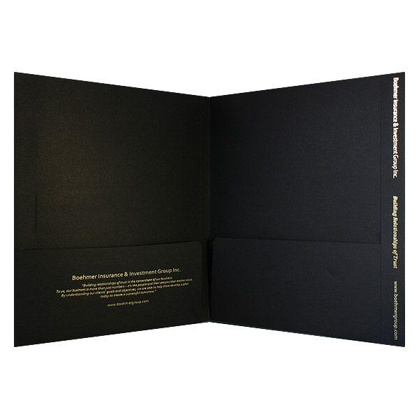 Boehmer Wide Presentation Folder (Inside View)