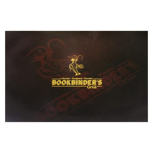 Bookbinder's Grill Restaurant Presentation Folder (Front View)