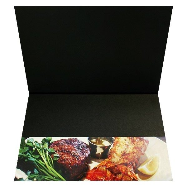 Restaurant Presentation Folders for Bookbinder's Grill (Inside Pocket View)