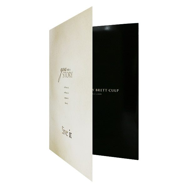 Decorative Presentation Folders for Brett Culp (Front Open View)