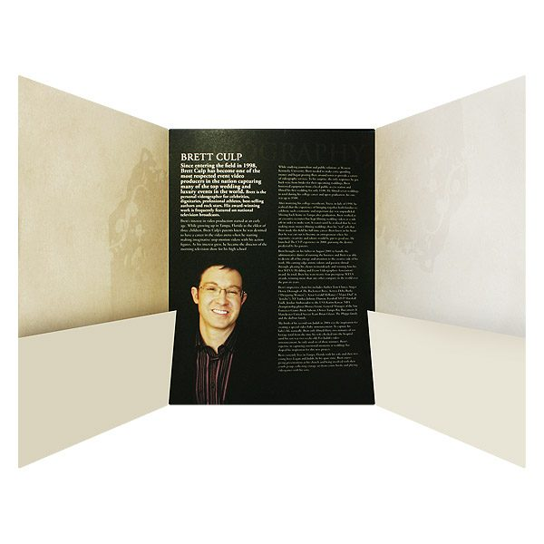 Brett Culp Two Pocket Tri-Panel Folder (Open View)