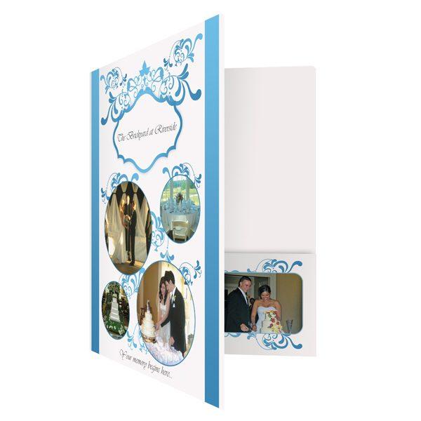 Brickyard Wedding Single Pocket Folder (Front Open View)