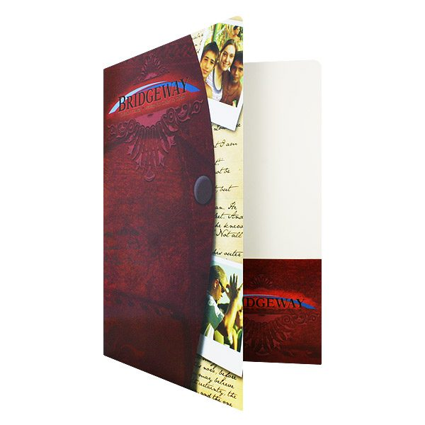 Church Visitor Folders for Bridgeway Christian (Front Open View)