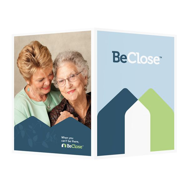 BeClose Senior Home Presentation Folder (Front and Back View)