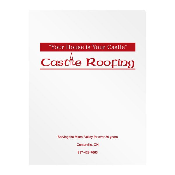 Castle Roofing Company Presentation Folder (Front View)