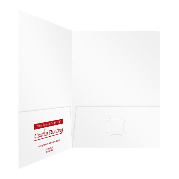 Castle Roofing 2-Pocket Presentation Folder (Inside Right View)