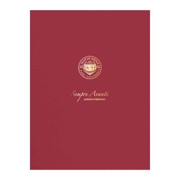 Justin-Siena Catholic High School Pocket Folder (Front View)