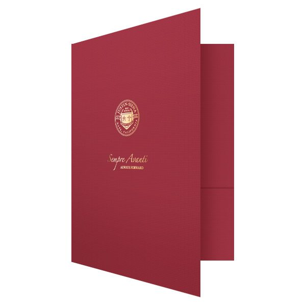 School Pocket Folders for Justin-Siena Catholic High (Front Open View)